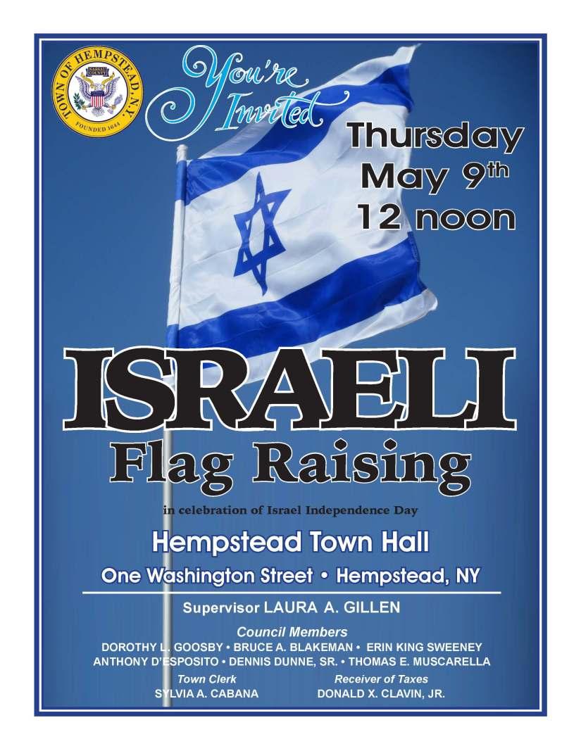 0509 Israeli Flag Raising
